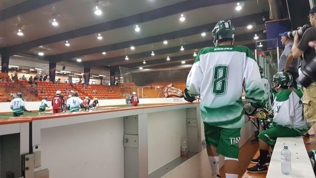 under 16 male lacrosse team for Team Saskatchewan