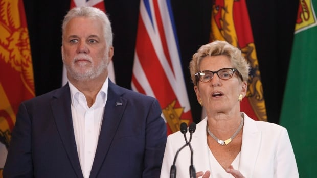Both Quebec Premier Philippe Couillard and Ontario Premier Kathleen Wynne will face voters in provincial elections in 2018.