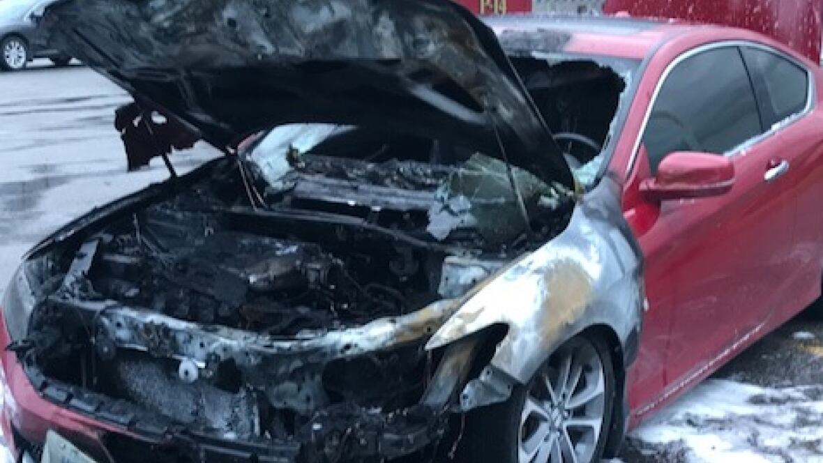 owner of fire razed honda accord wants action after  pany recall   sudbury   cbc news