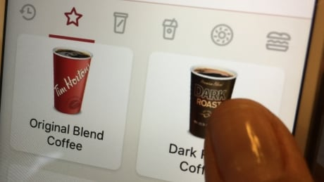 Tim Horton's mobile order-and-pay app
