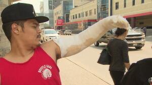 Shaunovin Houle, injured in Winnipeg explosion