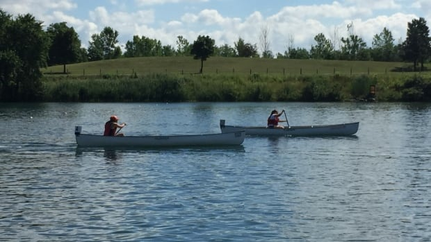 The canoe/kayak competition got underway at the Welland International Flatwater Centre in Welland, Ont., on Tuesday.
