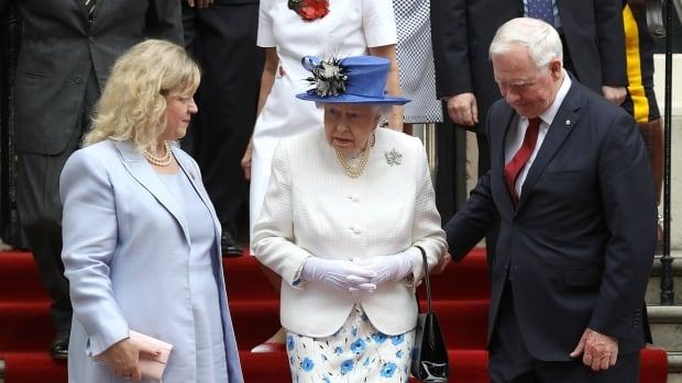 Meeting the Queen, Canada Governor Enrages British Tabloids by Touching her Arm