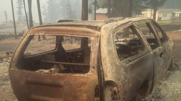 Images of properties taken after a wildfire descended on the community of Loon Lake have started to emerge online.
