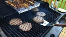 food on BBQ