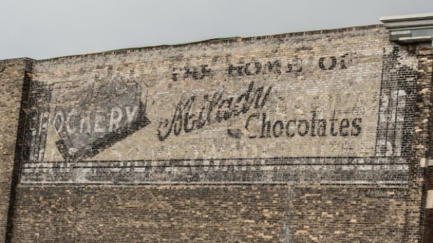 This is one of five ghost signs that well get a light projection makeover on July 29.