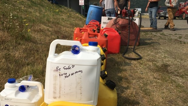 Fort McMurray has sent more than just food and hygiene supplies to B.C. wildfire victims. The community has rallied to send fuel and firefighting equipment.