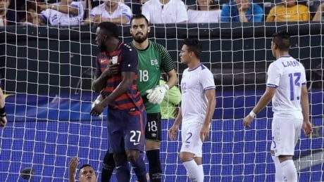 Henry Romero bites Jozy Altidore during Gold Cup quarter-finals
