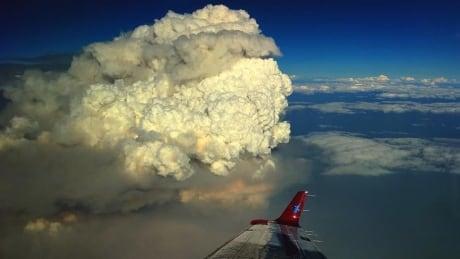 B.C. wildfire smoke clouds