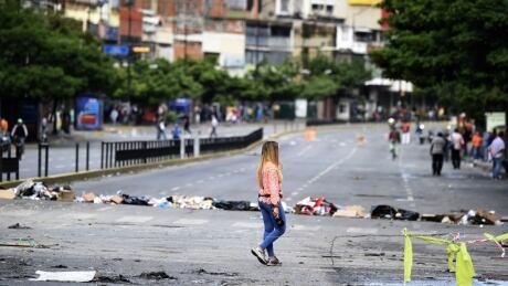 General strike shutters Venezuelan capital