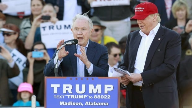 Jeff Sessions, shown on Feb. 28, 2016, in Madison, Ala., at a campaign appearance for Donald Trump, became U.S. attorney general in February. Trump has blasted Sessions for his decision to recuse himself from investigations related to interference by Russia in last year's election.