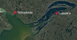 Yellownife, Lutsel'ke map