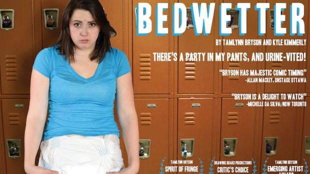 Bedwetter, one of the comedies at this year's Windsor-Walkerville Fringe Festival, stars Tamlynn Bryson and Kyle Kimmerly.
