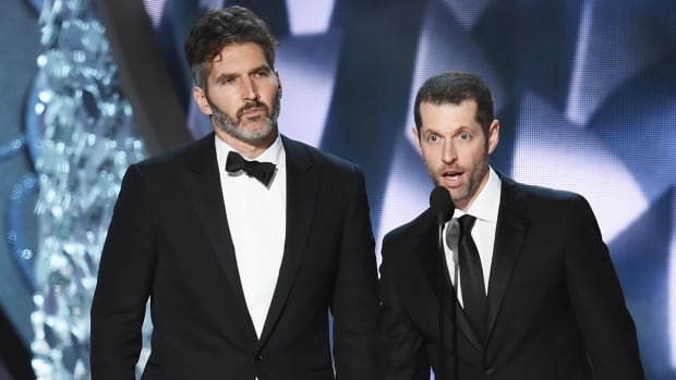 Game of Thrones showrunners David Benioff, left, and D.B. Weiss have signed on to expand the Star Wars movie universe after Game of Thrones concludes.
