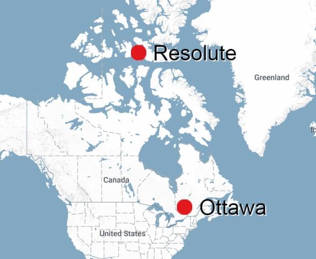 Resolute to Ottawa distance