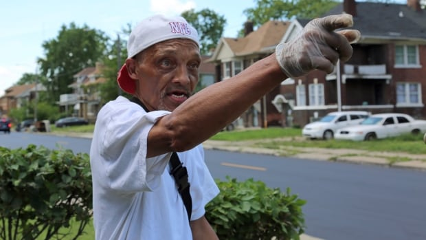 Maurice Wilson, 65, points to where U.S. army tanks rolled through his Detroit neighbourhood in the summer of 1967. He said the days of the riot were filled with smoke, shooting and soldiers.
