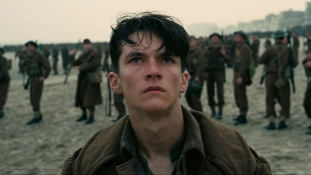 Fionn Whitehead appears as Tommy, one of many stranded soldiers in Dunkirk