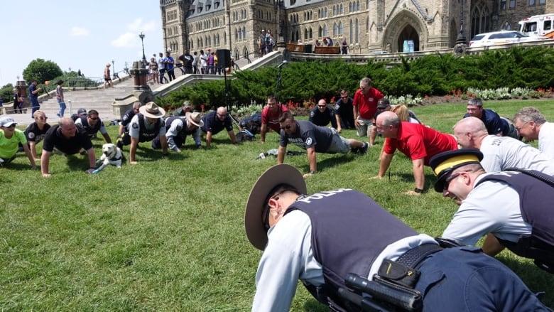 22 Pushups Challenge Parliament Hill