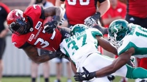 Jerome Messam cracks 100-yard mark as Stamps beat Roughriders