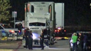 Driver arrested after 8 found dead in truck outside Texas Walmart in human trafficking case
