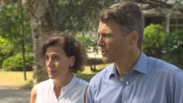 Susan Haid, left, and Vancouver Mayor Gregor Robertson announced details of a pilot project that will require all new rental buildings in an area of the Cambie corridor to include 20 per cent affordable rental units.