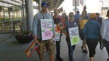 Striking airport workers