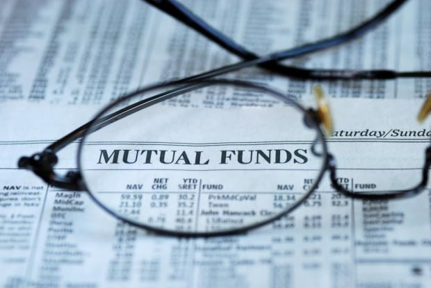 Mutual funds investment fees returns newspaper reading glasses
