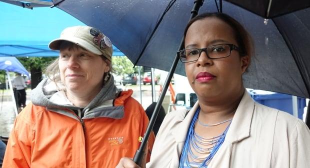 Laura Jackman and Hodan Farah July 24, 2017 Abdirahman Abdi anniversary memorial