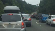 Malahat Highway traffic