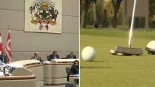 collage golf  calgary council