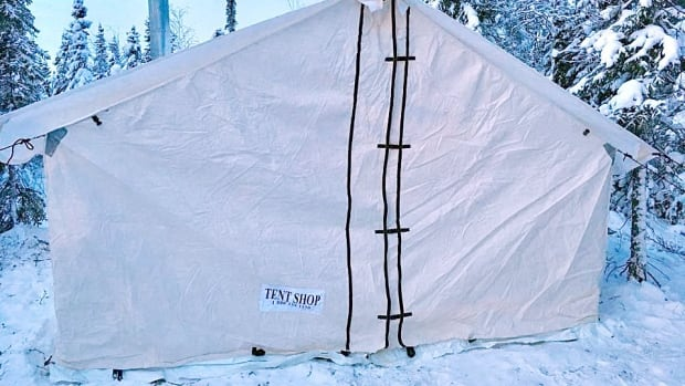 A canvas wall tent set up in the bush near Yellowknife. Non-permanent structures & Changes to N.W.T. lands acts could be bad news for squatters ...