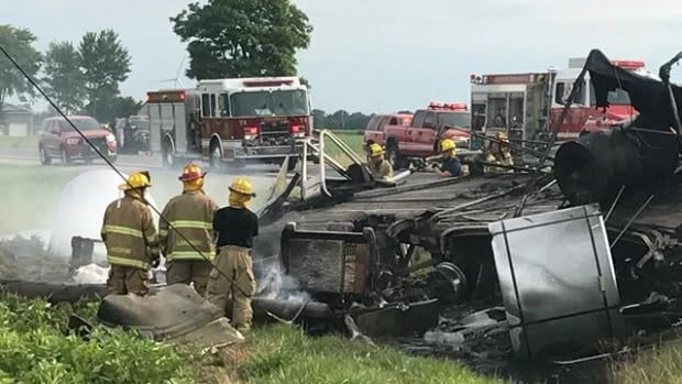 Emergency crews are responding to a multi-vehicle collision on Highway 77 near Comber.