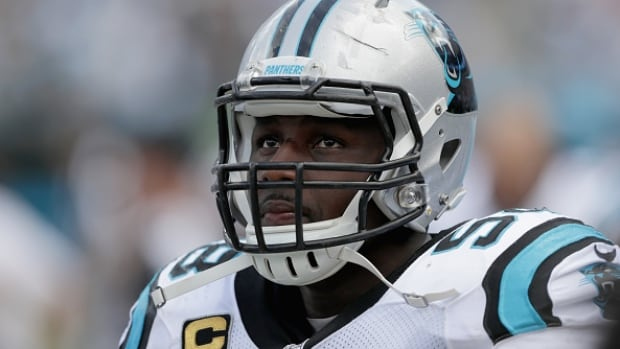 """Panthers linebacker Thomas Davis called the latest medical report on brain injuries from football """"alarming,"""" but added that it wouldn't stop him, or his two sons, from playing the sport."""