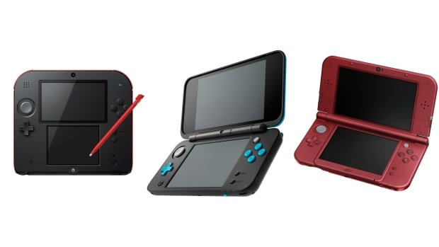 3DS devices collage