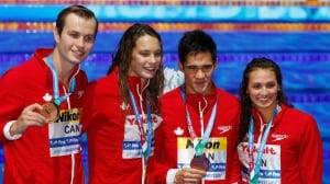 World record-breaking swimmer Masse adds bronze in mixed relay