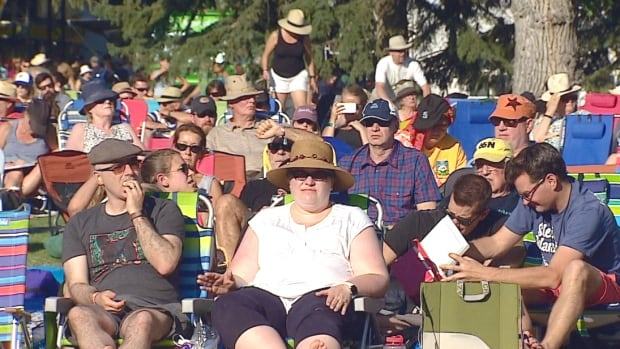 Music lovers take in the first day of the 2017 Calgary Folk Music Festival.