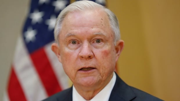 U.S. Attorney General Jeff Sessions speaks during a meeting in San Salvador, El Salvador on Thursday. 'It hasn't been my best week … for my relationship with the president.'