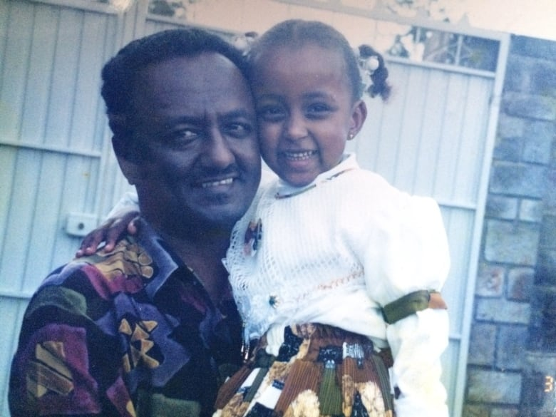 3ec3dd5a3 Yamri Taddese and her father in Ethiopia, where she spent her childhood.  (Yamri Taddese)