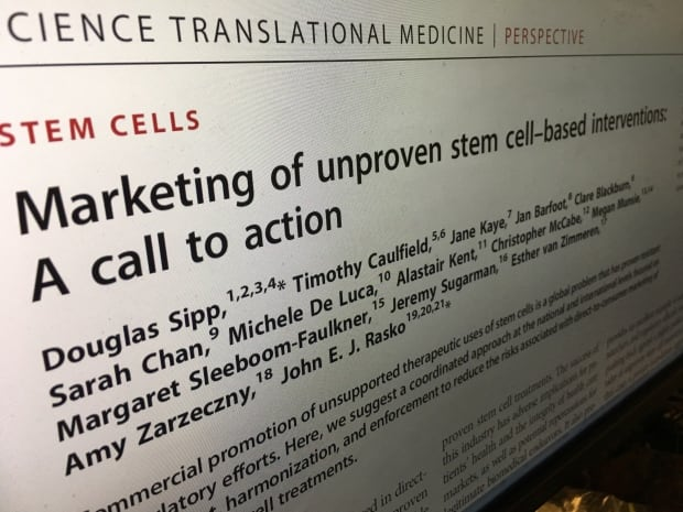 Timothy Caulfield stem cell marketing