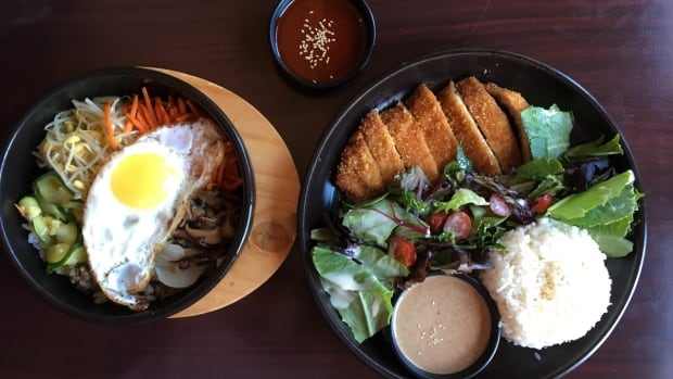 At Hanjan diners can come for chicken and waffles, or galbi (ribs) and bibimbap (rice bowl).