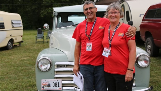Victor and Kristy Leger are from Allison, New Brunswick - just west of Moncton. They drove their 1951 Chevrolet pickup truck across the continent to get to the starting point of Victoria, B.C.