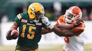 Eskimos stare down Lions, claim sole possession of 1st