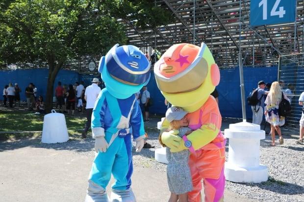 Mascot hug
