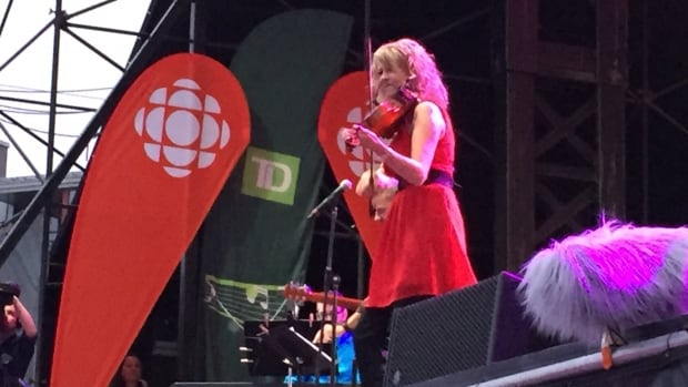 Natalie MacMaster performs at the Halifax waterfront Saturday night.