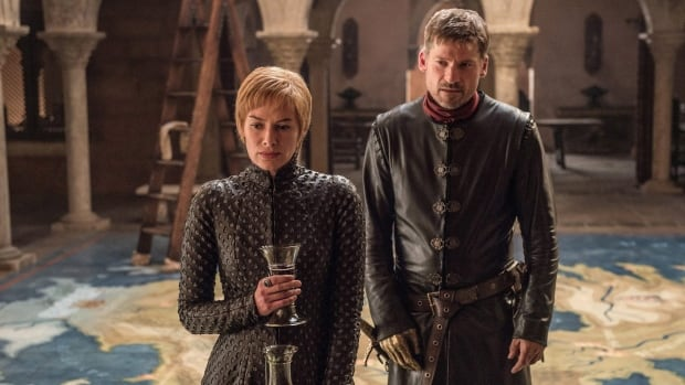 Lena Headey, left, and Nikolaj Coster-Waldau in a Season 7 episode of HBO's Game of Thrones, which hackers have reportedly targeted.