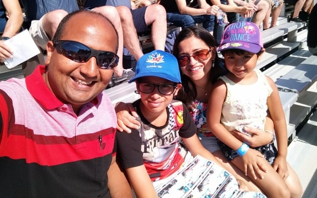 abhay ghatpande and family at formula e free wristbands