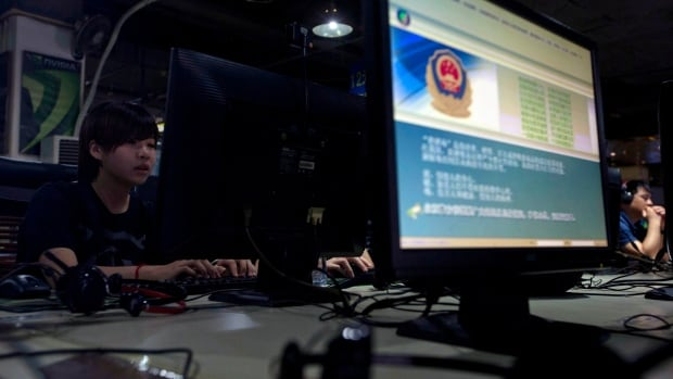A message from the Chinese police on the proper use of the internet is seen at an internet cafe in Beijing. Earlier this year, China announced its intent to block all unregulated virtual private network services by February 2018.