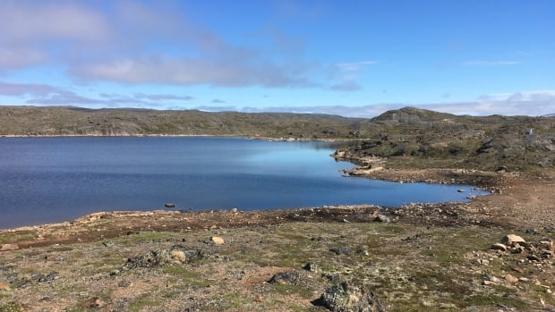 Lake Geraldine, which supplies the City of Iqaluit, sits above the city near the power plant.