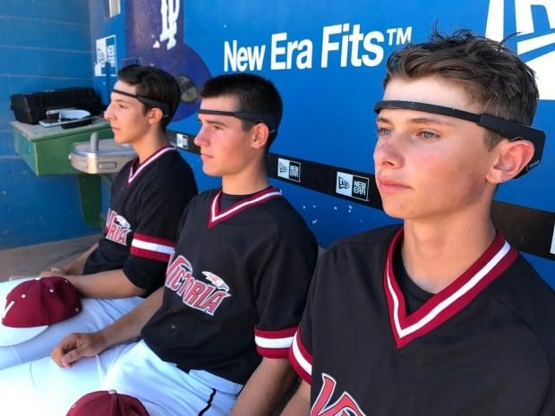 baseball players in muse headbands