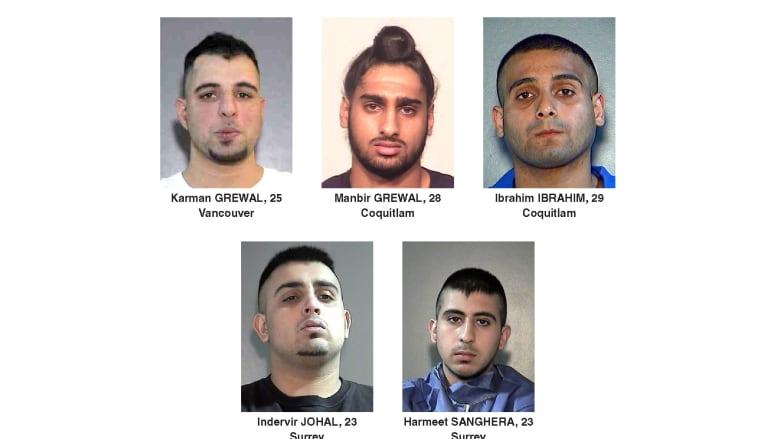 Targets of recent shootings Surrey RCMP